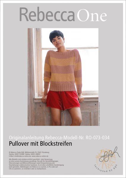Strickanleitung - Pullover mit Blockstreifen