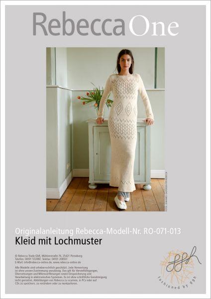 Strickanleitung - Kleid mit Lochmuster