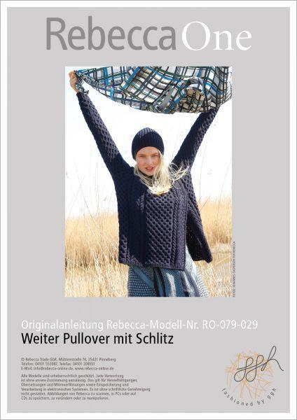Anleitung - Weiter Pullover mit Schlitz